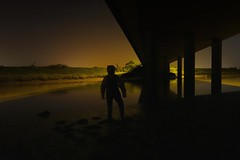 Hiding in the dark (essex_mud_explorer) Tags: waders watstiefel coarsefisher daiwa rubber thigh boots rainwear raingear hellyhansen nusfjord raincoat rainbib rainjacket