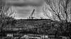 Il est où l'espoir il est où ?? (francis_bellin) Tags: méditerranée olympus 2017 noiretblanc samedi charbon mai usine travail fossurmer noir labeur