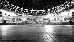 London Eye (G.Comte) Tags: london londoneye bw blackwhite urban monochrome city landmark frombelow ground lines light