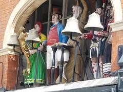 British & Irish Icons (jacquemart) Tags: gloucester southgate southgatestreet mechanicalclock britishicons johnpeel tombull