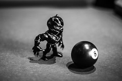 IMG_9476 (Brother Christopher) Tags: figure figurine toy toys black panther 8ball 50mm btw blackandwhite monochrome monochromatic explore indoors indoor brotherchris podcast nerd nerds geek geeks marvel civil war