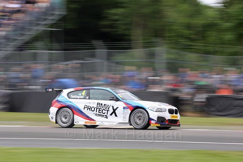 Colin Turkington in action at Oulton Park, May 2017