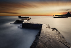 St Monans (Grant Morris) Tags: theblocks fife fifecoast fifecoastalpath scotland longexposure sunset seaside seascape sea breakwater grantmorris grantmorrisphotography canon
