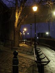 Up Hill (johnholme1) Tags: nightscene stockport underbank
