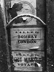 Follow you, Follow me. (Livesurfcams) Tags: po bombay london trunk luggage devon abandoned
