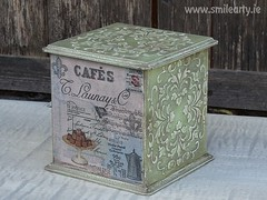 Vintage Box in Pastel Green Colours (Smile Arty) Tags: gift present vintage handmade decoupage crafts arts diy box mdf pastel