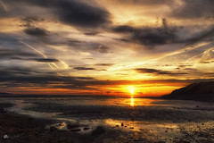 Low tide... (Kerriemeister) Tags: low tide wirralpeninsular dee estuary sunset sky clouds nikon beach sea coastal ripples