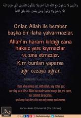 Kerim Kur'an - Furkan 68. (Oku Rabbinin Adiyla) Tags: allah kuran islam ayet ayetler god religion bible torah verse holybook