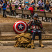 Captain America Eating Lunch