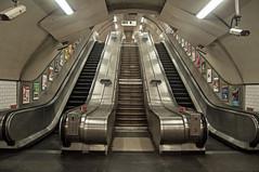 Escalators (D_Alexander) Tags: uk england london thecity stpaulsstation centralline londonunderground thetube londonundergroundstations