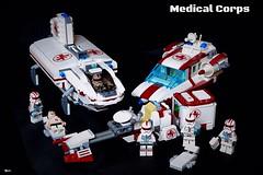 Star Wars Medical Corps (Veynom) Tags: lego moc starwars clone stormtrooper custom medic