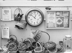 Today's Compost (jshyshka) Tags: m8 leica baskets clock sunglasses bw voigtlander 40mm