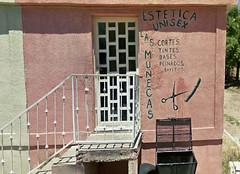 Las Muñecas Estetica Unisex (Midnight Believer) Tags: nogalesmexico beautyshop barbershop chicks mexican sonora business streetside unisex hairstylist spanish español