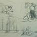 COURBET Gustave - Vache, Paysages et Bateau à Vapeur, Etudes (drawing, dessin, disegno-Louvre RF29234.5) - Detail 04