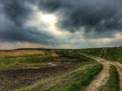 Storm ahead (alina_gruianu) Tags: countrylife thunderstorm cloudysky clouds skyline troubledsky green grass tulcea delta danube danubedelta nature romania discoverromania exploring outdoor countryroad rustic countryside wildlife wild storm