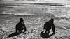 Playing (Poul_Werner) Tags: danmark denmark grenen skagen beach easter hav ocean påske sea strand frederikshavnmunicipality blackwhitephotos
