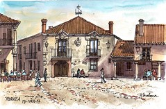 Plaza Mayor de Pedraza (P.Barahona) Tags: arquitectura plaza pedraza casas blasones soportales