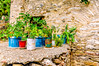 Lefkes, Paros (Kevin R Thornton) Tags: pots d90 nikon travel mediterranean greece plants lefkes paros egeo gr
