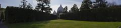 Vatican Gardens - views of the Basilica panorama