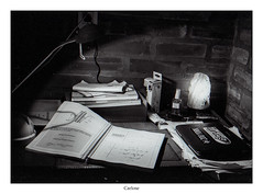 Calculus (Carlos E Cortés Parra) Tags: calculus book study analogic kodak tmax400 nikon f4s blackandwhite lamp light desktop