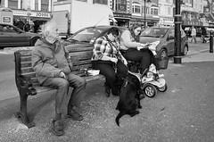 Scarborough 03 (Peter.Bartlett) Tags: ricohgr noiretblanc fastfood unitedkingdom bench people city urbanarte yorkshire peterbartlett man urban women monochrome uk streetphotography woman dog bw sign macphuntonality blackandwhite lunaphoto candid