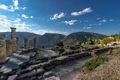 "Delphi, The Sacred Way – XVIII – Apollo's Temple (egisto.sani) Tags: delfi sito ""late classical period"" tardo classico periodo"" xenodoros agathon ""apollo's temple"" ""temple apollo"" ""tempio di phocis focide delphi ""archaeological museum"" ""museo archeologico"""