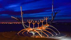 Sun Voyager, Reykjavik (powerfocusfotografie) Tags: sunvoyager sólfar reykjavik iceland dreamboat sculpture harbour dream hope progress freedom henk nikond7200 powerfocusfotografie