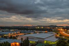 Johannesburg From Helvetia House, Germiston (Paul Saad) Tags: johannesburg lights sunset sunrise dusk dawn nikon city capital sun helvetia house clouds cloud sky outdoor longexposure southafrica night