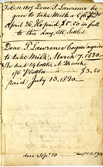 Twelfth page of the Cambridge Milk Dealer Account Book (Cambridge Room at the Cambridge Public Library) Tags: cambridgemass commerce milk business accountbooks milkdelivery
