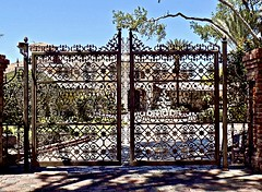 Beyond the Gates (BlueisCoool) Tags: flickr foto photo image capture picture photography nikon coolpic l330 3d pattern gate outdoor outdoors modern architecture building mansion florida beyondthegates gatedhome decorativegate druidrds harboroaks clearwaterflorida