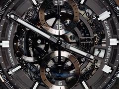 Swiss Precision (Prozac74) Tags: 11 350pm canonef100mmf28macrousm canoneos5ds canonspeedlite420ez canonspeedlite580exii heuer01 tagheuer chronograph chronometer fullsize greyphantom killingtime macro pattern polarizationfilter showoff strobist titanium watch