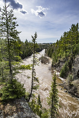 Sunny Day on the Trail (Portraits of Nature) Tags: trail lookout outdoors wilderness sky trees cliffs river ravine ontario canada