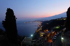 DSCF1400 (arcalexx) Tags: sicily taormina mediterranian sunset coast sea