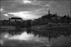*** (Marta Wojtkowska) Tags: digital samsung nx10 samsungnx10 monochrome bw blackandwhite water river waterscape sunset oldtown castle