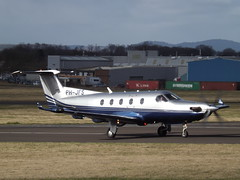 PH-JFS Pilatus PC-12 Eurofilters Holding BV (Aircaft @ Gloucestershire Airport By James) Tags: gloucestershire airport phjfs pilatus pc12 eurofilters holding bv egbj james lloyds
