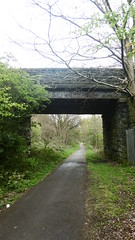 Huddersfield   Newtown - Mirfield    old railway     -   bridge at Sheepridge, nr former Red Doles junction (dave_attrill) Tags: huddersfield newtown hillhouse mirfield lmsr london midland scottish railway disused line goods only branch trackbed west yorkshire riding cycle path foothpath ncn connection sheffieldtobradford sheepridge red doles junction transpennine express