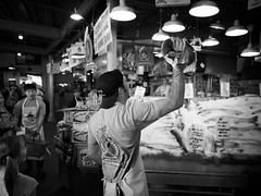 (joshyunglee) Tags: captureonepro pikeplacefishmarket tokina1116f28 nikond7000 blackandwhite pikeplacemarket seattle