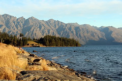 Admiring The View (Alan1954) Tags: remarkables lakewakatipu mountains lake newzealand holiday 2014 sunset