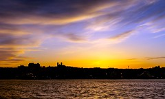 Evening Sky (Karen_Chappell) Tags: clouds sky evening night sunset nfld newfoundland stjohns harbour sityscape seascape landscape scenery scenic water ocean atlantic atlanticcanada canada eastcoast avalonpeninsula skyline urban downtown city silhouette blue orange black