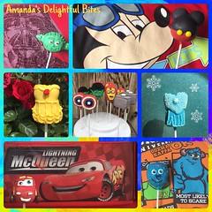 Disney Characters (Amanda's Delightful Bites) Tags: amandasdelightfulbites frozen mickey starwars yoda lightningmcqueen cars monstersinc sully ironman captainamerica hulk thor princessdress belle boy cakepops pixar disney