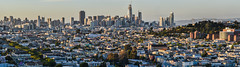 sunset shadows (pbo31) Tags: bayarea nikon d810 color california april 2017 spring boury pbo31 sanfrancisco salesforce construction tower sunset over skyline rooftops bernalhillpark bernalheights view panoramic large stitched panorama missiondistrict baybridge bridge shadows hospital general