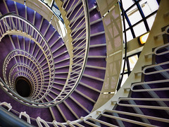 Implosion (Douguerreotype) Tags: uk gb britain british england london city urban architecture spiral helix stairs steps purple