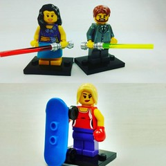 Friends with light sabers and boxers on skateboards, these are a few of my favourite things! #brickyourself #brickmandan #lego #makeyourselfinlego #legoboxer #myfavouritethings