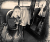 Dimensions (shawnstraughan13) Tags: nikond750 art photography photos selfportrait multipleexposures blackandwhite sepia francescawoodman movement motion girl indoors light dark creative conceptual digital