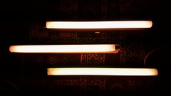Three Times Three (EveryBodiesDeadDave) Tags: fluorescentlights t12 philips everybobiesdeaddave lightcreations sonyxperiaz5 sonyz5 fluorescenttubes glass light lamps tubes three