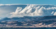 Earth and Sky (maytag97) Tags: maytag97 tamron 150 600 150600 idaho landscape owyhee mountain range outdoor outside cloud blue sky contrast arid desert nikon d750