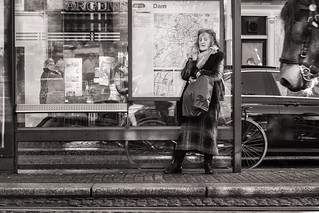 waiting for the tram
