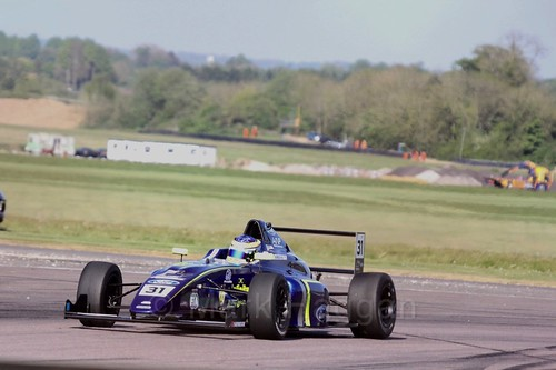 Logan Sargeant in British Formula Four at Thruxton, May 2017