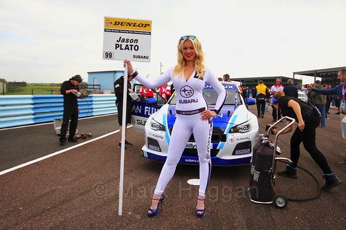 Jason Plato on the grid at the Thruxton BTCC weekend, May 2017