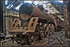 Under the weather (Loco Steve) Tags: magyarállamvasutak mav railway railroad travel budapest hungary istvantelektrainworkshop 301006 steam steamlocomotive abandoned rust decay